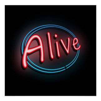 Alive concept. poster