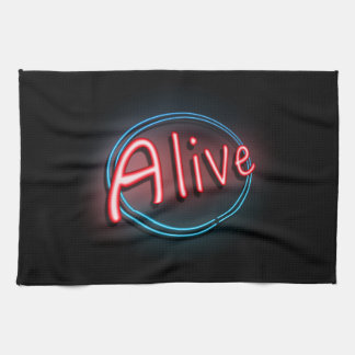 Alive concept. tea towel