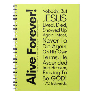 Alive Forever1 Christian Notebook