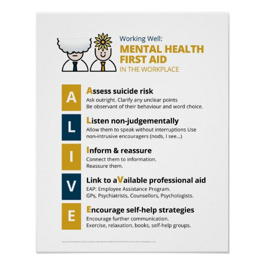 ALIVE Mental Health First Aid (Alt Design) Poster