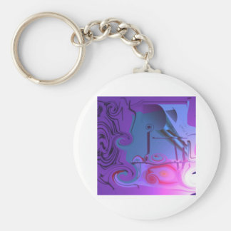 Alixharrows shopaholics basic round button key ring
