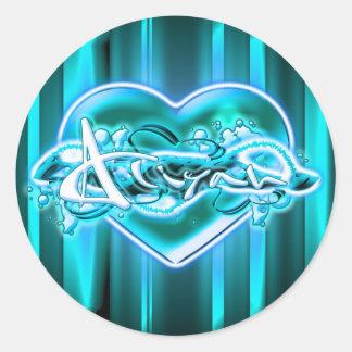 Aliyah Round Stickers