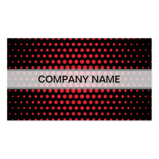 Alizarin crimson Techno Dots Modern Black Pack Of Standard Business Cards