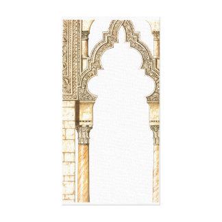 Aljaferia. Islamic palace. Arches. Zaragoza Canvas Print