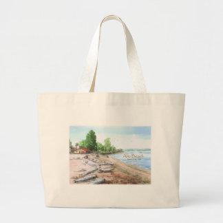 Alki Beach Bathhouse Fabric Shopping Bag Tote