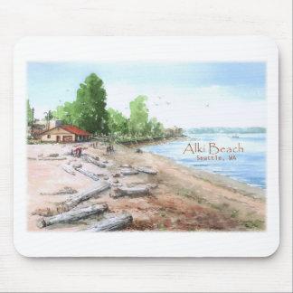 Alki Beach Bathhouse Mousepad