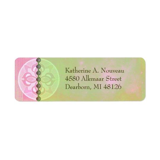 Alkmaar Nouveau in Pink & Green - Address Labels