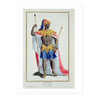 Alkmey, King of Guinea from 'Receuil des Estampes, Postcard