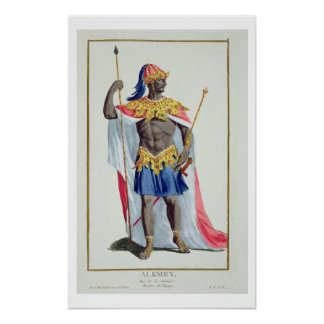 Alkmey, King of Guinea from 'Receuil des Estampes, Poster