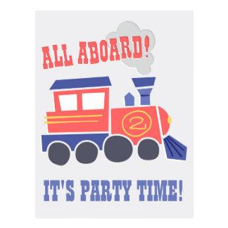 All Aboard Birthday Postcard Invite