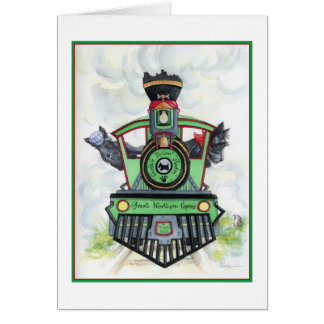 All Aboard Scottie Adventures Greeting Card