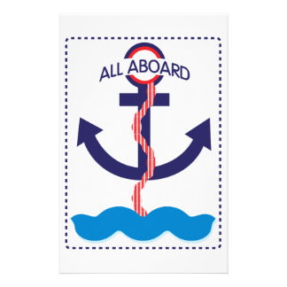 All Aboard Customized Stationery