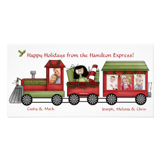 All Aboard the Express - Photo Holiday Card Photo Card