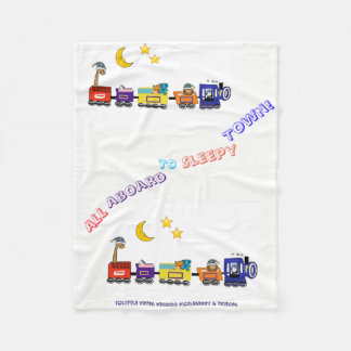 All Aboard to Sleepy Town! Fleece Blanket