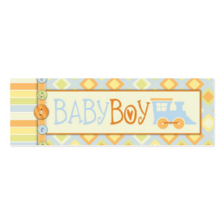 All Aboard Train Baby Shower Gift Tag Business Card Template