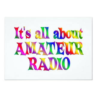 All About Amateur Radio 13 Cm X 18 Cm Invitation Card