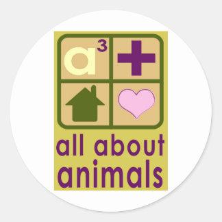 All About Animals Logo Round Sticker