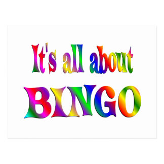 All About BINGO Postcard