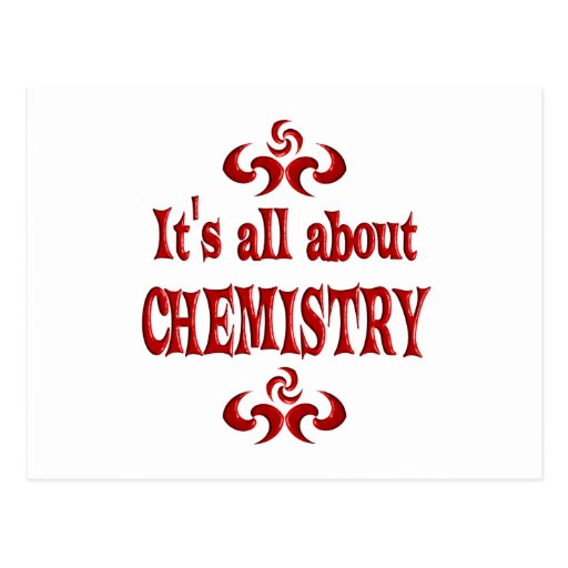 ALL ABOUT CHEMISTRY POST CARDS