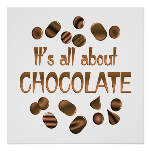 All About Chocolate Poster