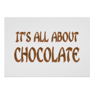 All About Chocolate Print