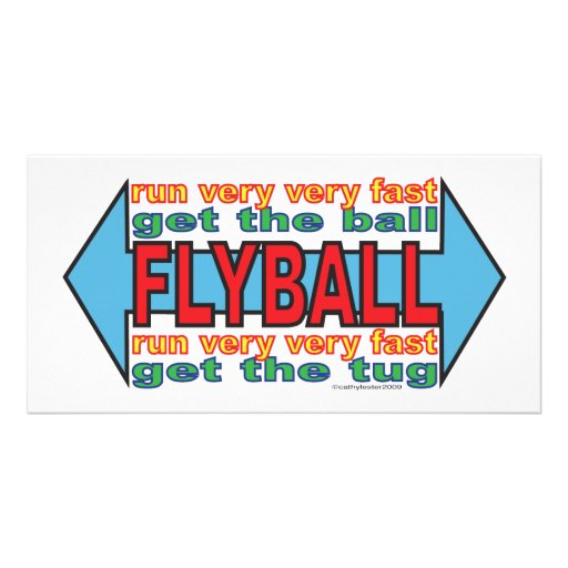 All about Flyball Photo Greeting Card