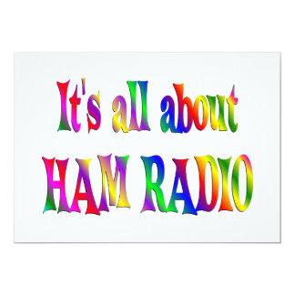 All About Ham Radio 13 Cm X 18 Cm Invitation Card
