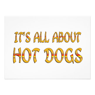 All About Hot Dogs Custom Invite
