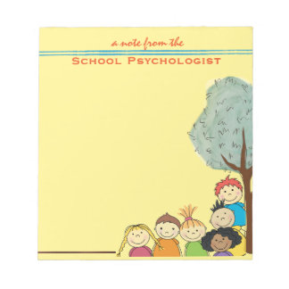 All About Kids-- School Psychologist Note Pad