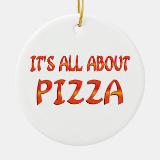 All About Pizza Christmas Ornament