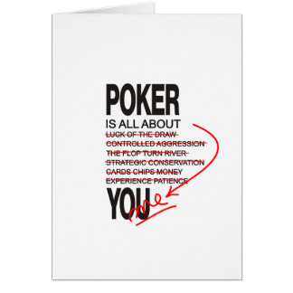 All About Poker Greeting Cards