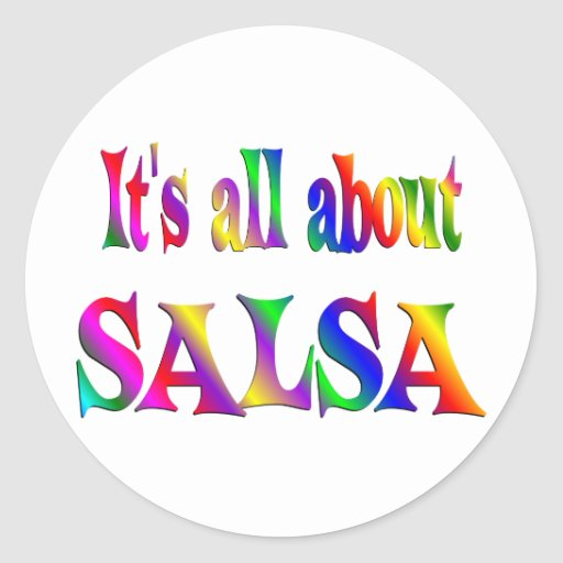 All About Salsa Stickers