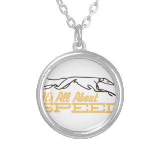 All About Speed Round Pendant Necklace