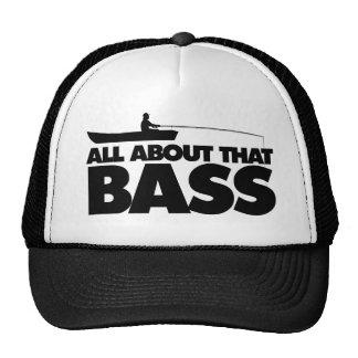 All about that bass no bluegill trucker hat