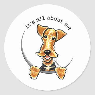 All About the Airedale Terrier Classic Round Sticker