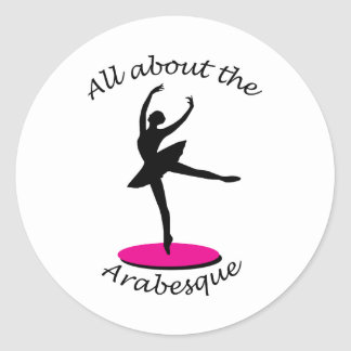 All About the Arabesque Round Stickers