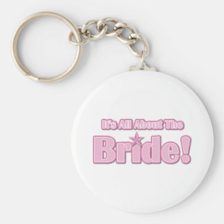 All About The Bride Basic Round Button Key Ring