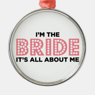 All About the Bride Pink Christmas Ornaments