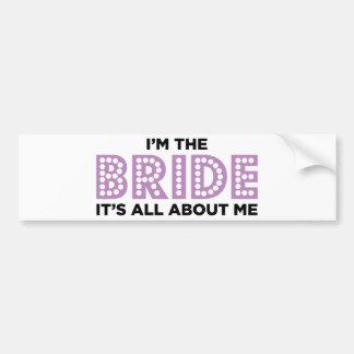 All About the Bride Purple Bumper Stickers