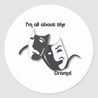 All About the Drama Classic Round Sticker