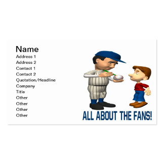 All About The Fans Pack Of Standard Business Cards
