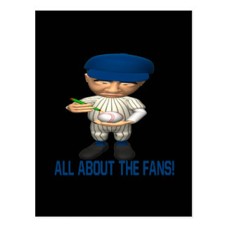 All About The Fans Postcard
