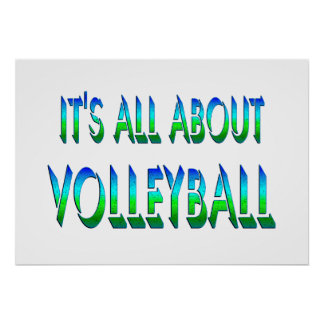 All About Volleyball Posters