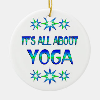 All About Yoga Round Ceramic Decoration