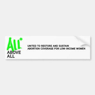 All* Above All logo Bumper Sticker