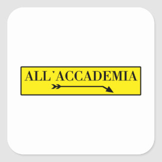 All Accademia Venice Italian Street Sign Sticker
