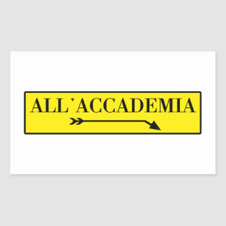 All Accademia Venice Italian Street Sign Rectangle Stickers