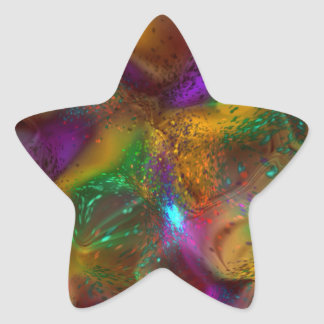 All Aglow Abstract Star Sticker