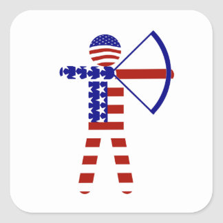 All-American Archer / Archery Square Sticker