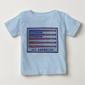 All American baseball bats flag babies tee